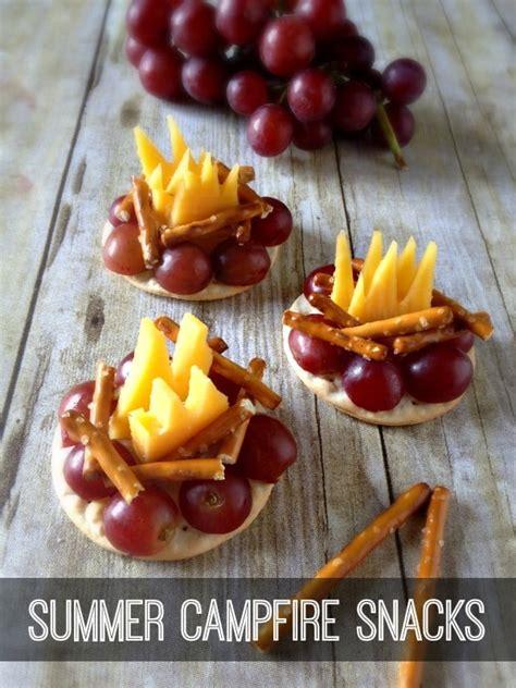 summer campfire snacks  inspiration  moms skip