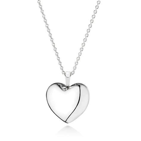 pandora plain heart necklace pendant cz  pandora