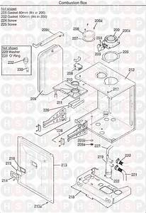 Potterton Heatmax Combi 28 He  Combustion Box Diagram