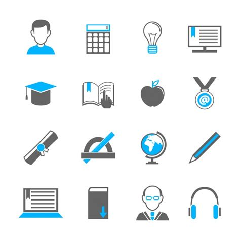 simple education icons vector