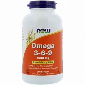 Now Foods  Omega 3-6-9  1000 Mg  250 Softgels
