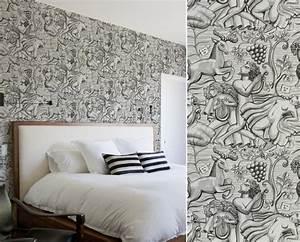 Papier Peint Japonisant : papier peint pour une chambre art d co blog au fil des ~ Premium-room.com Idées de Décoration