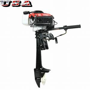 New 4 Stroke 4 Hp Outboard Motor 57cc Boat Engine With Air