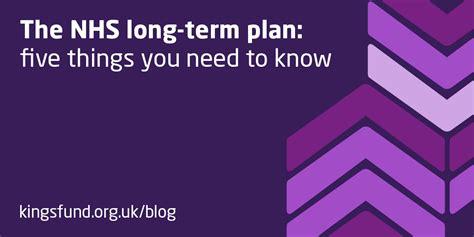 nhs long term plan  kings fund