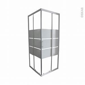 porte de douche coulissante elie angle 70x70 cm verre With porte de douche coulissante avec etagere salle de bain blanc laqué