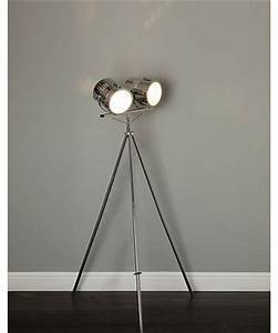 3 floor lamps With chrome camera floor lamp