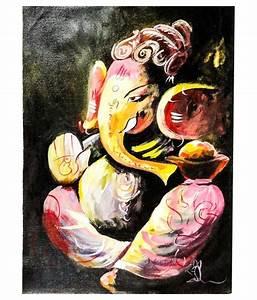 Ganesh Ji Canvas Art Painting by Gifts N Crafts: Buy