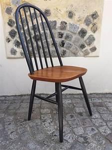 Stühle 2er Set : niederl ndische schwarz lackierte vintage st hle 2er set bei pamono kaufen ~ Frokenaadalensverden.com Haus und Dekorationen