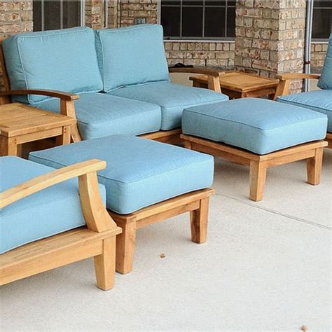 patio chairs with ottoman winsome teak wood patio chair with ottoman showcasing