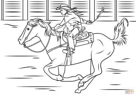 Barrel Racing Horse Coloring Pages Wwwpixsharkcom