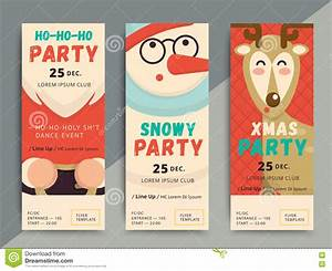 Movie Ticket Layout Christmas Party Flyer Template Design Poster In