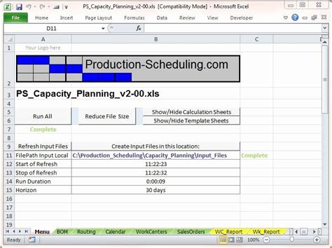 production schedule template excel   schedule