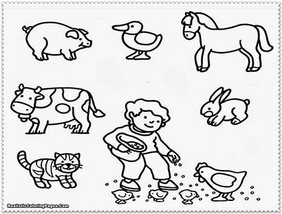 Farm Coloring Animals Pages Printable Animal Adult