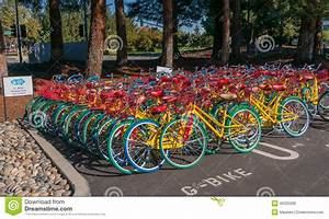 Google Bikes In Google Campus Editorial Photo - Image of ...