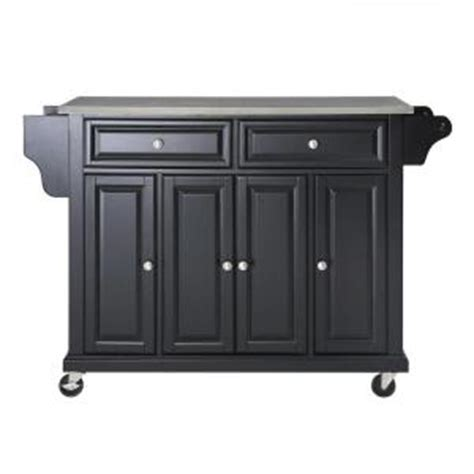 kitchen island at home depot crosley 52 in stainless steel top kitchen island cart in