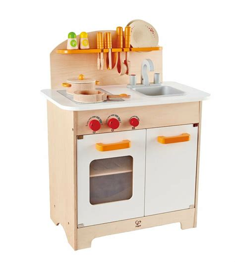 hape  gourmet chef kitchen  cookware wooden play set kids pretend play ebay