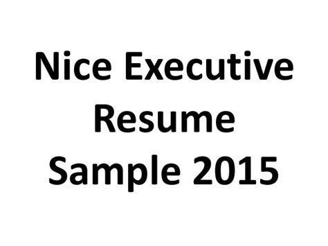 Ryerson Classes Resume 2015 by Executive Resume Sle 2015