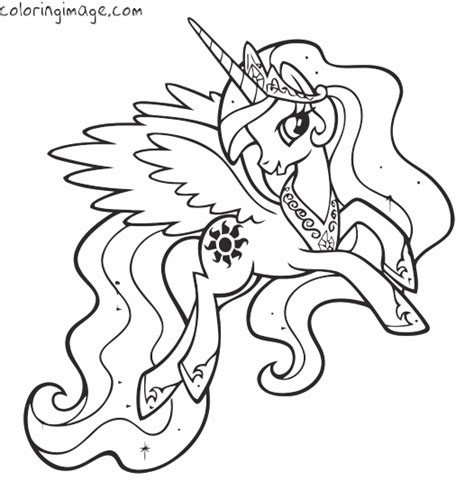 Celestia Kleurplaat My Pony by My Pony Coloring Page Princess Celestia My