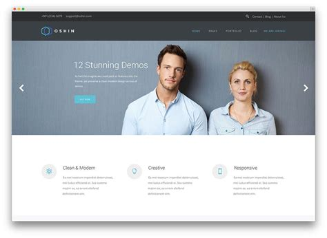 minimalist wordpress themes  corporate websites