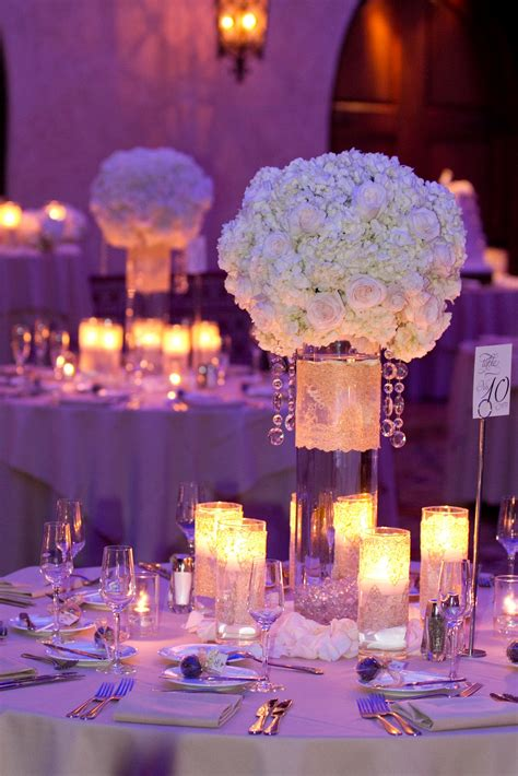 wedding table center pieces on pinterest ballroom