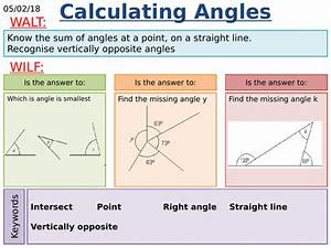 Ks2  Ks3 Maths  Calculating Angles Along A Line And About A