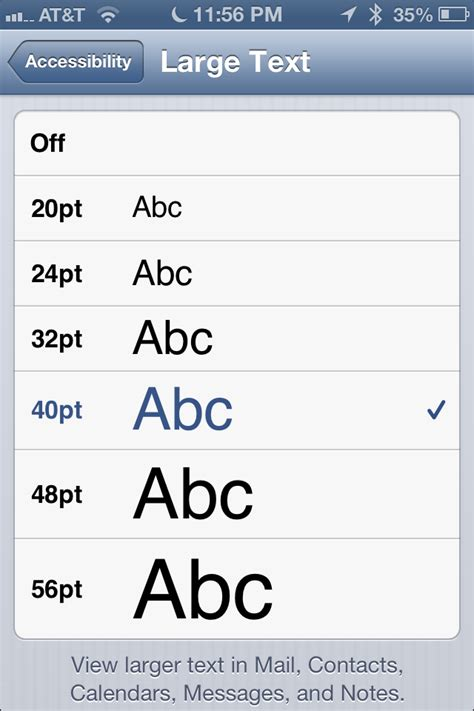 iphone font how to change font size of text messages on iphone