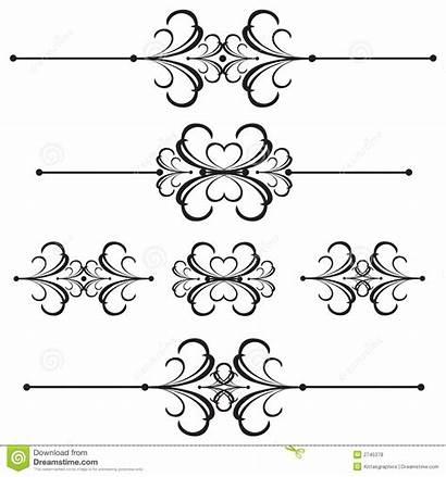 Line Divider Bar Ornamental Dividers Vector Separators