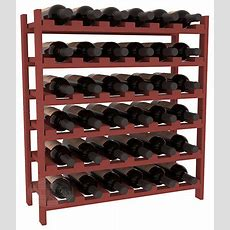36 Bottle Stackable Wine Rack In Pine With Cherry Stain