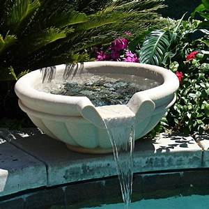 30quot round sandstone outdoor stone pool or pond fountain for Outdoor pond fountains