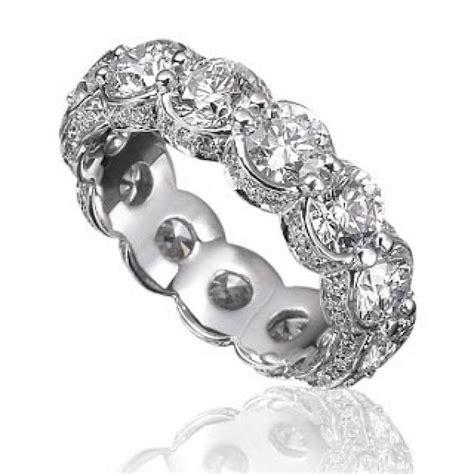 600 Ct Ladies Round Cut Diamond Eternity Wedding Band Ring