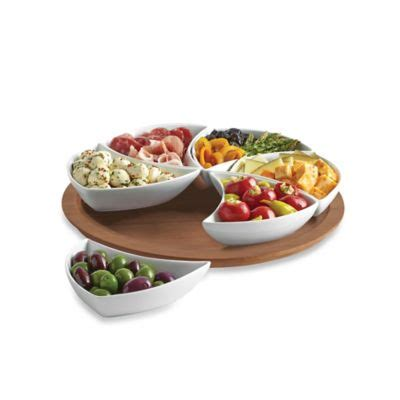 b smith lazy susan with serving bowls b smith lazy susan swirl server bed bath beyond