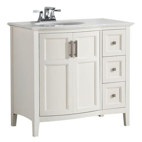 Birch Vanity by Shop Simpli Home Winston Soft White Undermount Single Sink