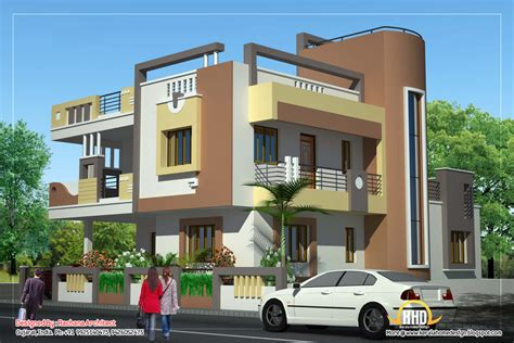 duplex house plan  elevation  sq ft indian home decor