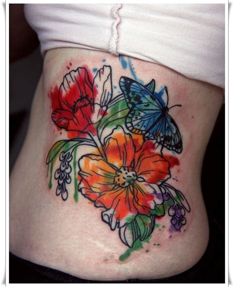 artistic watercolor tattoos   living works  art