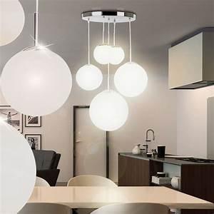 Lampe 5 Flammig : 5 flammige kugel lampe h nge leuchte satiniertes glas ~ Lateststills.com Haus und Dekorationen