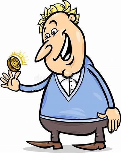 Lucky Cartoon Coin Golden Illustration Duck Rich