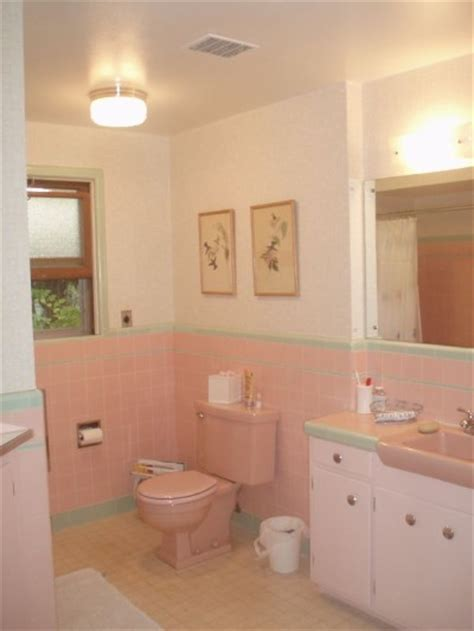 what to do with a pink bathroom