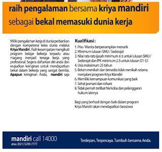 daftar lowongan kerja bank mandiri jombang terbaru