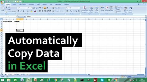 excel tutorial how to automatically copy data from one excel worksheet to another youtube
