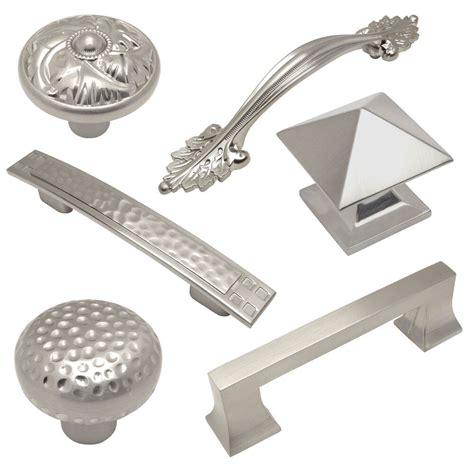 Kitchen Knobs And Pulls by Cosmas Satin Nickel Cabinet Hardware Pulls Knobs And