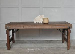 rustic vintage coffee table with metal tin patchwork With old rustic coffee tables