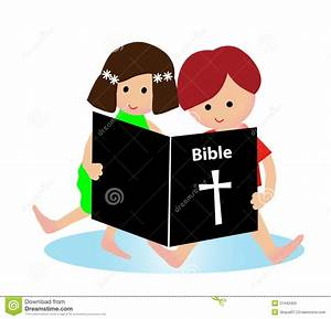Child reading bible stock vector. Illustration of child ...