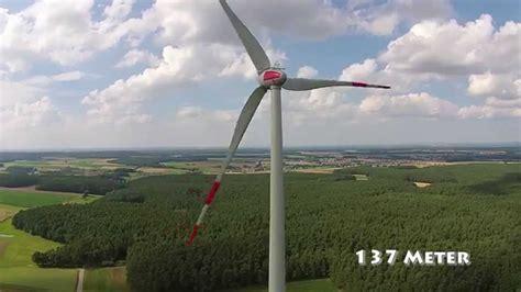 wie hoch ist eigentlich so ein windrad