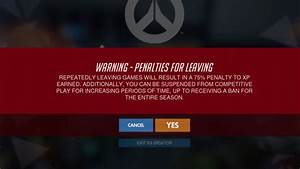 Repeatedly Leaving Competitive Overwatch Games Could Get