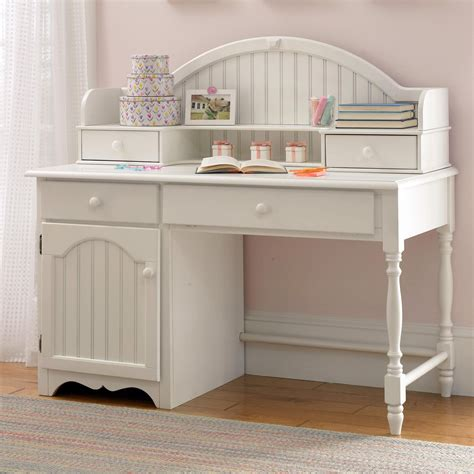 desk with hutch white westfield cottage white desk with optional hutch at hayneedle