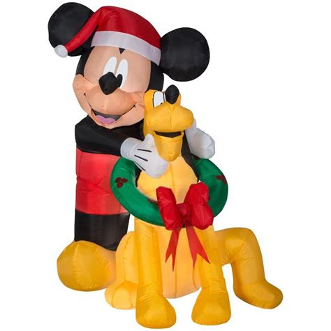 disney  ft lighted mickey mouse christmas inflatable