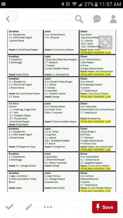 untitled tlcdietrecipes  calorie meal plan