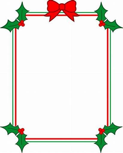 Christmas Ribbon Clipart Clipartpanda Border Frame Holly
