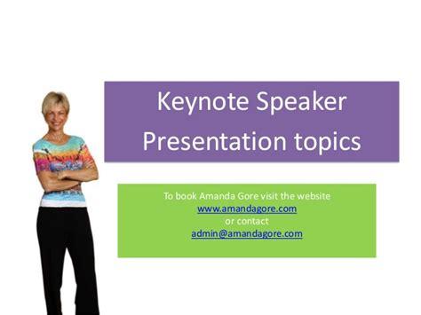 amanda gore keynote  topics