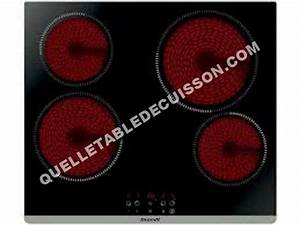 Plaque Vitro 2 Feux : table de cuisson brandt bpv6423b plaque 4 feux ~ Dailycaller-alerts.com Idées de Décoration